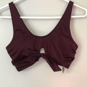 NWOT✨ PINK Victoria's Secret Maroon Bikini Top